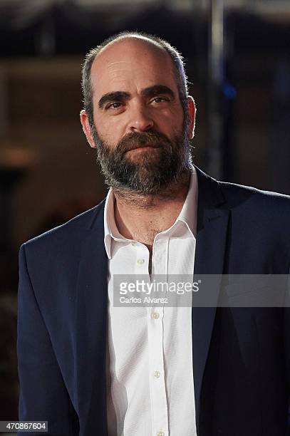 Spanish actress actor Luis Tosar attends the 'A Cambio de Nada' premiere at the Cervantes Theater during the 18th Malaga Film Festival on April 23...