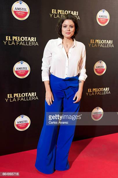 Spanish actress Adriana Torrebejano attends 'El Pelotari Y La Fallera' premiere at the Callao cinema on April 5 2017 in Madrid Spain