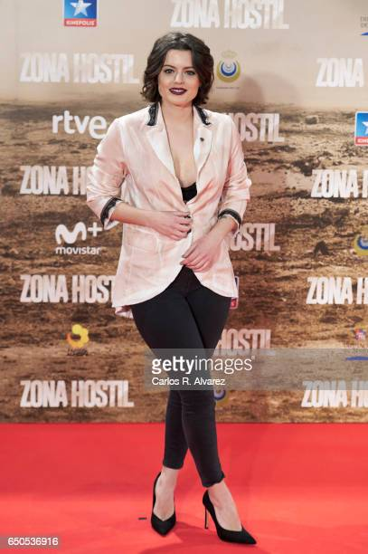 Spanish actress Adriana Torrebejano attends 'Zona Hostil' premiere at the Kinepolis cinema on March 9 2017 in Madrid Spain