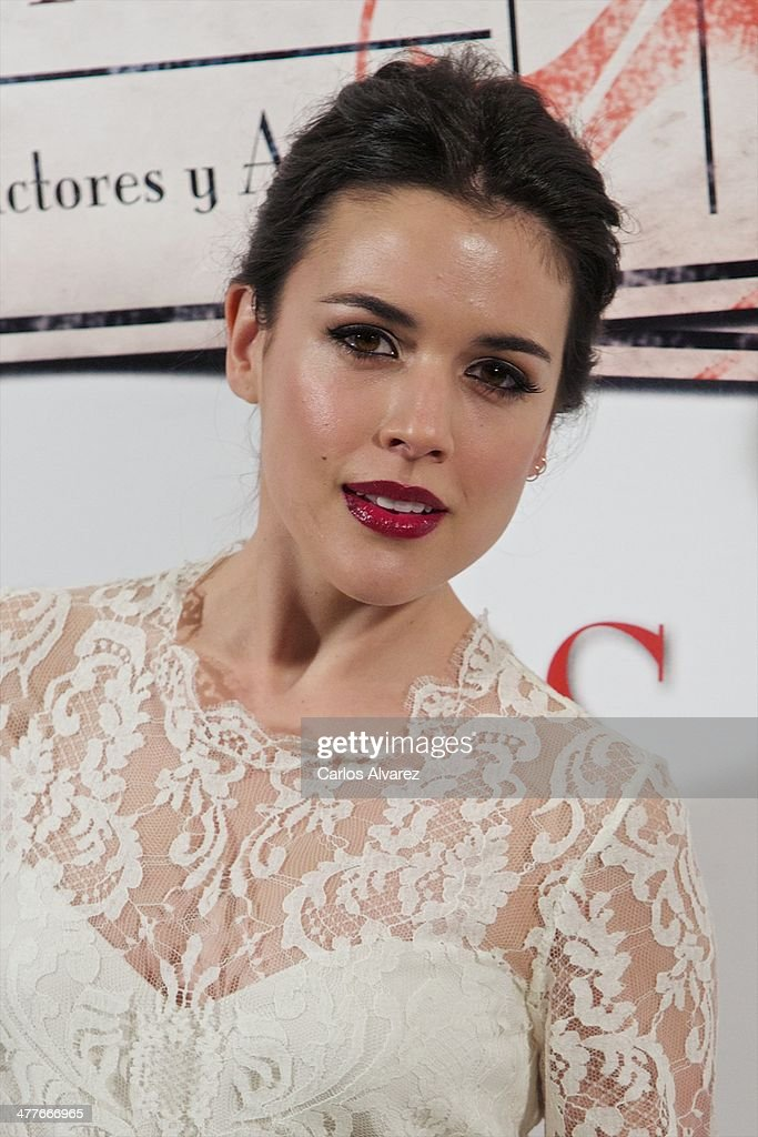 Spanish actress <a gi-track='captionPersonalityLinkClicked' href=/galleries/search?phrase=Adriana+Ugarte&family=editorial&specificpeople=6546874 ng-click='$event.stopPropagation()'>Adriana Ugarte</a> attends the 23th Union de Actores awards at the Coliseum Theater on March 10, 2014 in Madrid, Spain.
