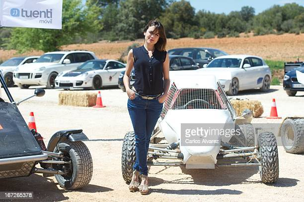 Spanish actress Adriana Ugarte attends the 'Combustion' photocall on April 23 2013 in Belmonte de Tajo near of Madrid Spain