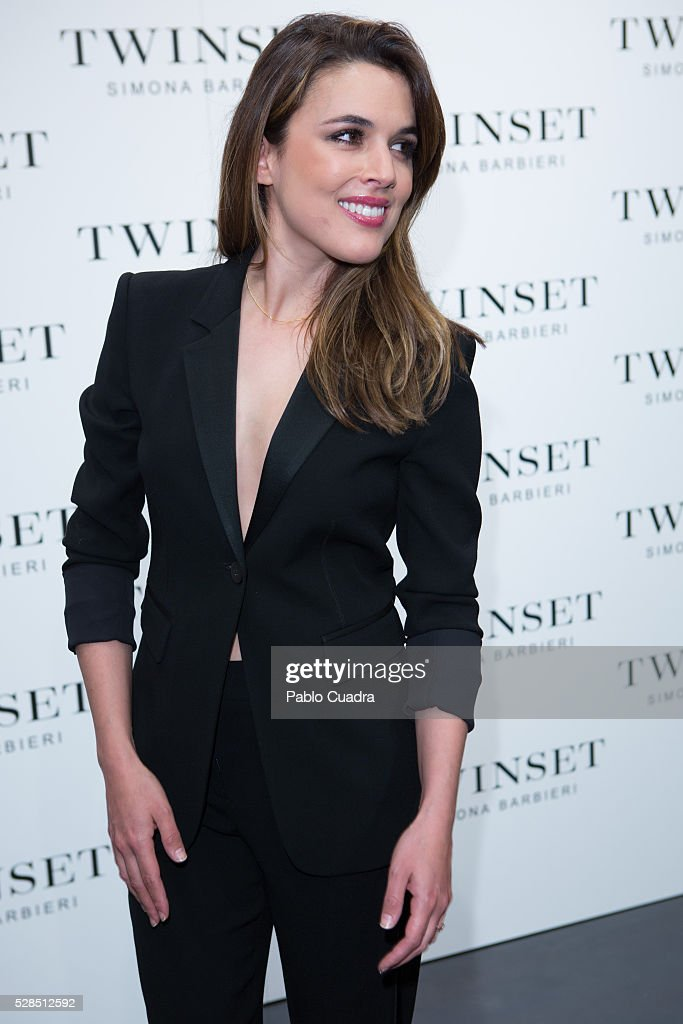 Spanish actress Adriana Ugarte attends the 'Twin Set' fashion event on May 05, 2016 in Madrid, Spain.