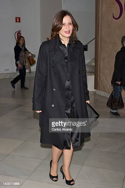 Spanish actress Aitana Sanchez Gijon attends 'Historias de Mujer y Vino' by Dinastia Vivanco Foundation presentation at National Library on March 28...