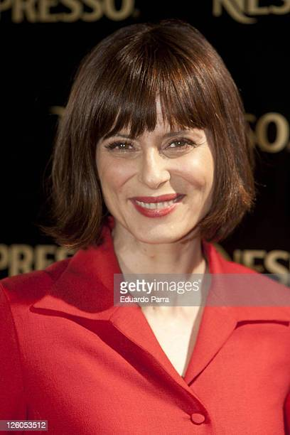 Spanish actress Aitana Sanchez Gijon attends Nespresso party photocall at La Caja Magica on February 17 2011 in Madrid Spain