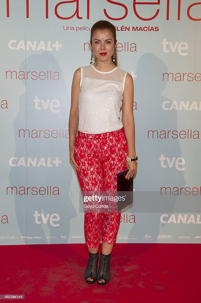Spanish actress Alba Garcia attends 'Marsella' premiere at the Capitol cinema on July 17, 2014 in Madrid, Spain.