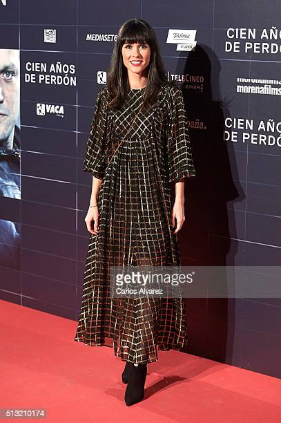 Spanish actress Alba Lago attends the 'Cien Anos de Perdon' premiere at the Capitol cinema on March 1 2016 in Madrid Spain
