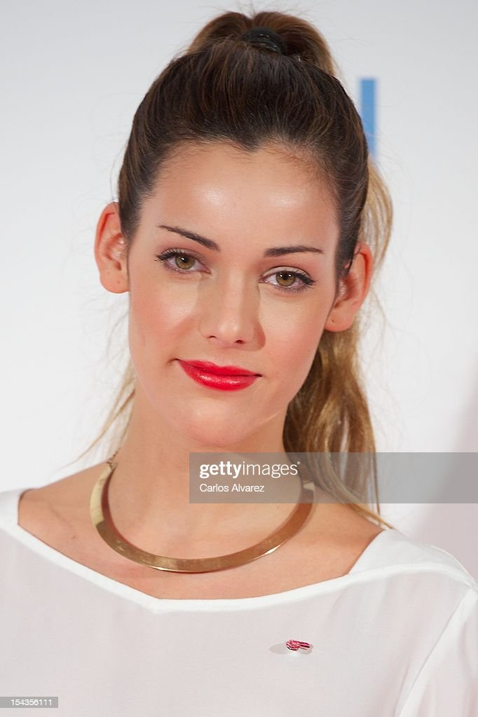 Spanish actress Alejandra Onieva attends 'Yo Dona Magazine' pink number hosted by Swarovski at NH Eurobuilding Hotel on October 18, 2012 in Madrid, Spain.