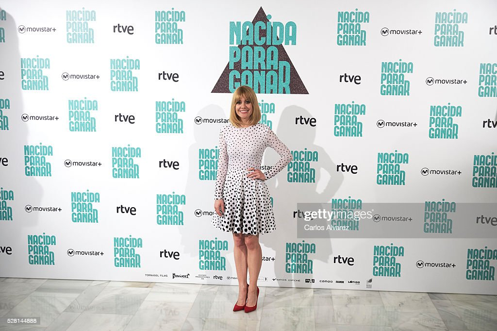 Spanish actress Alexandra Jimenez attends 'Nacidas Para Ganar' photocall at the Eurobuilding Hotel on May 04, 2016 in Madrid, Spain.