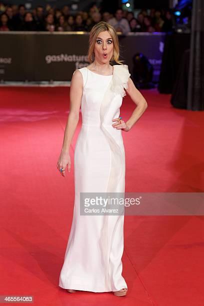 Spanish actress Alexandra Jimenez attends the 'Feroz' cinema awards 2014 at the Callao cinema on January 27 2014 in Madrid Spain