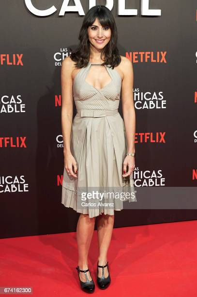 Spanish actress Alicia Fernandez attends 'Las Chicas Del Cable' premiere at the Callao cinema on April 27 2017 in Madrid Spain