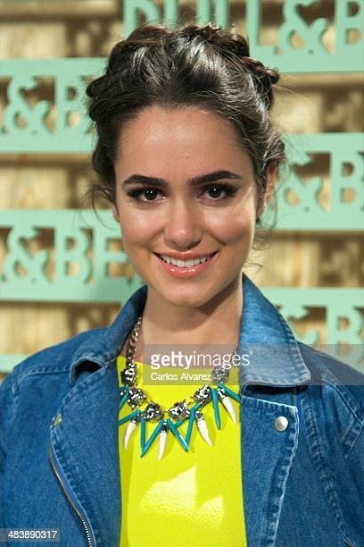 Spanish actress Alicia Sanz attends the 'Pull Bear' party at the Cibeles Palace on April 10 2014 in Madrid Spain