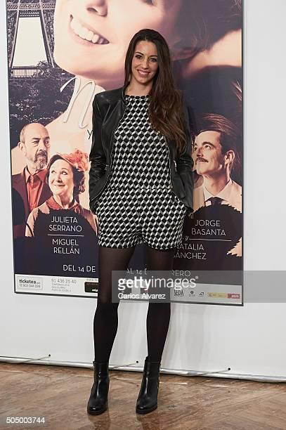 Spanish actress Almudena Cid attends 'Ninette y un Senor de Murcia' premiere at the Fernan Nunez Theater on January 14 2016 in Madrid Spain