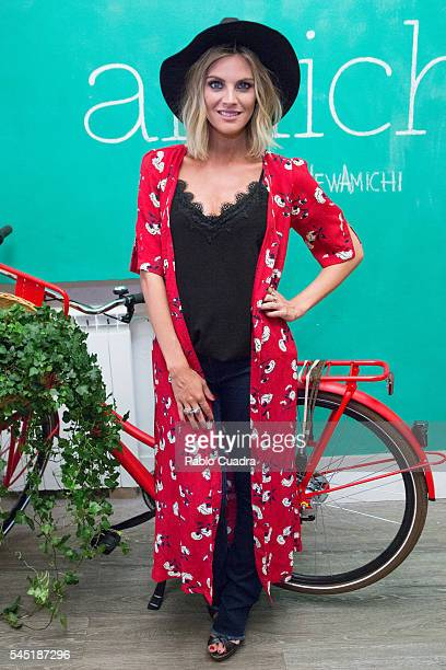 Spanish actress Amaia Salamanca attends a photocall as she is announced as Amichi new image on July 6 2016 in Madrid Spain