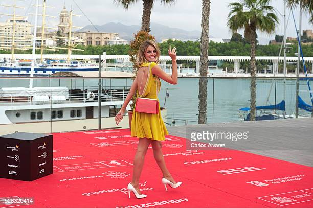 Spanish actress Amaia Salamanca attends 'Nuestros Amantes' photocall during the 19th Malaga Film Festival on April 30 2016 in Malaga Spain