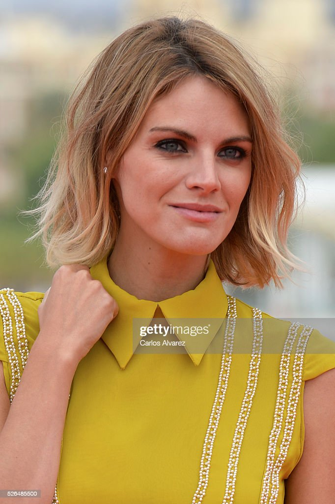 Spanish actress <a gi-track='captionPersonalityLinkClicked' href=/galleries/search?phrase=Amaia+Salamanca&family=editorial&specificpeople=5084489 ng-click='$event.stopPropagation()'>Amaia Salamanca</a> attends 'Nuestros Amantes' photocall during the 19th Malaga Film Festival on April 30, 2016 in Malaga, Spain.