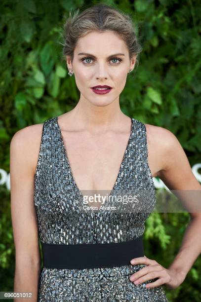 Spanish actress Amaia Salamanca attends the opening of the new Porcelanosa store on June 14 2017 in San Sebastian de los Reyes Spain