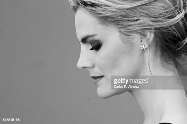 Spanish actress Amaia Salamanca attends 'Tiempos De Guerra' at Antena 3 Television on July 13 2017 in Madrid Spain