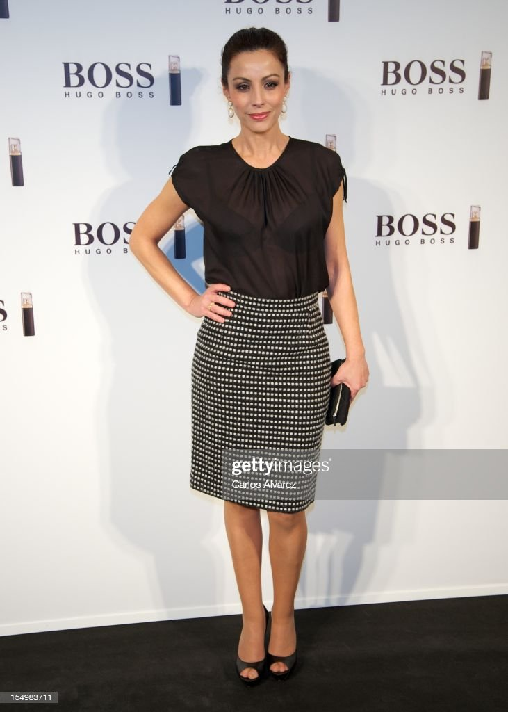 Spanish actress Ana Alvarez attends the new 'Boss Nuit Pour Femme' Hugo Boss parfum presentation at the Neptuno Palace on October 29, 2012 in Madrid, Spain.