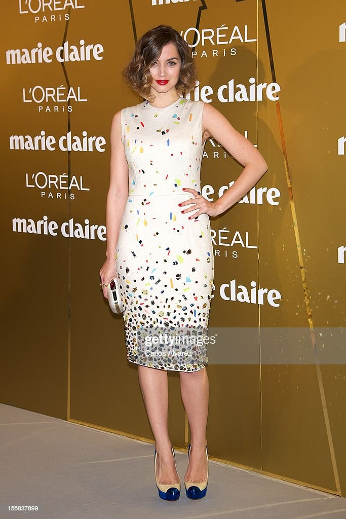 Spanish actress Ana de Armas attends Marie Claire Prix de la Moda Awards 2012 at the French Embassy on November 22, 2012 in Madrid, Spain.