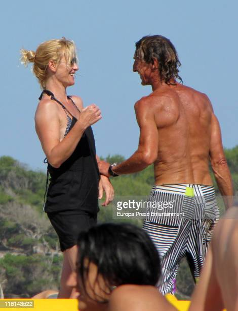 Spanish actress Ana Duato is seen sighting on July 4 2011 in Ibiza Spain