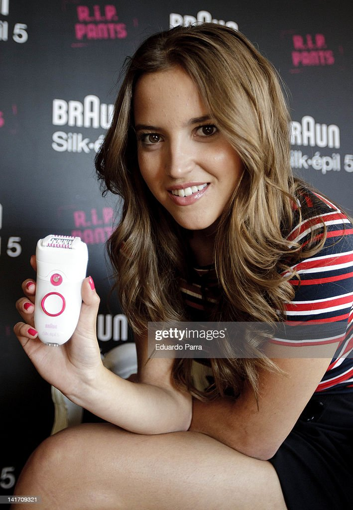 Spanish actress Ana Fernandez attends new Braun Silk Epil 5 photocall at Adolfo Dominguez store on March 22 2012 in Madrid Spain