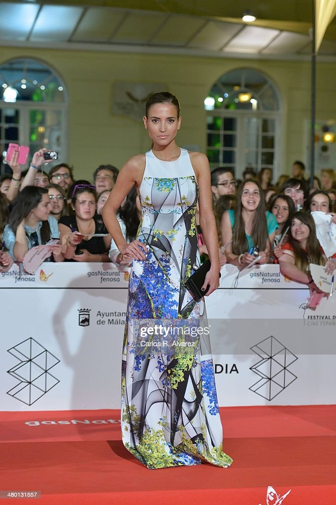 Spanish actress Ana Fernandez attends the 'Carmina y Amen' premiere during the 17th Malaga Film Festival at the Cervantes Theater on March 22, 2014 in Malaga, Spain.
