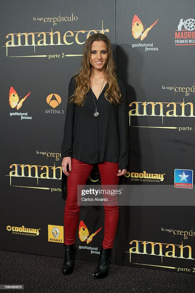 Spanish actress Ana Fernandez attends the 'The Twilight Saga: Breaking Dawn - Part 2' (La Saga Crepusculo: Amanecer Parte 2) premiere at the Kinepolis cinema on November 15, 2012 in Madrid, Spain.