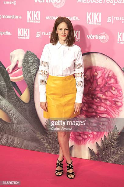 Spanish actress Ana Maria Polvorosa attends 'Kiki El Amor Se Hace' premiere at the Capitol premiere on March 30 2016 in Madrid Spain