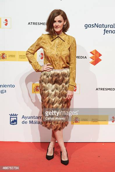 Spanish actress Ana Maria Polvorosa attends the Malaga Film Festival cocktail presentation at Circulo de Bellas Artes on March 18 2015 in Madrid Spain