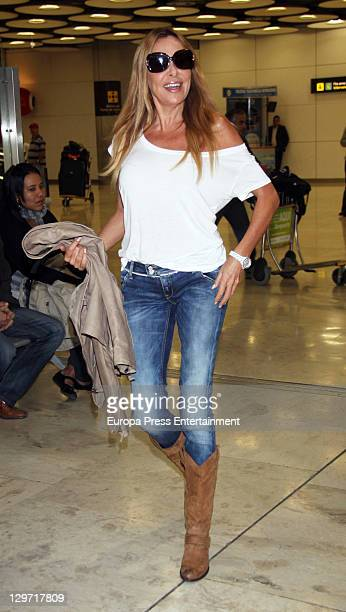 Spanish actress Ana Obregon is seen on October 20 2011 in Madrid Spain