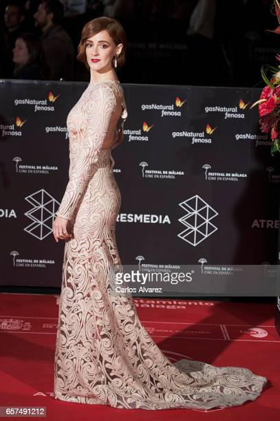 Spanish actress Ana Polvorosa attends the 'Pieles' premiere on day 8 of the 20th Malaga Film Festival at the Cervantes Teather on March 24 2017 in...