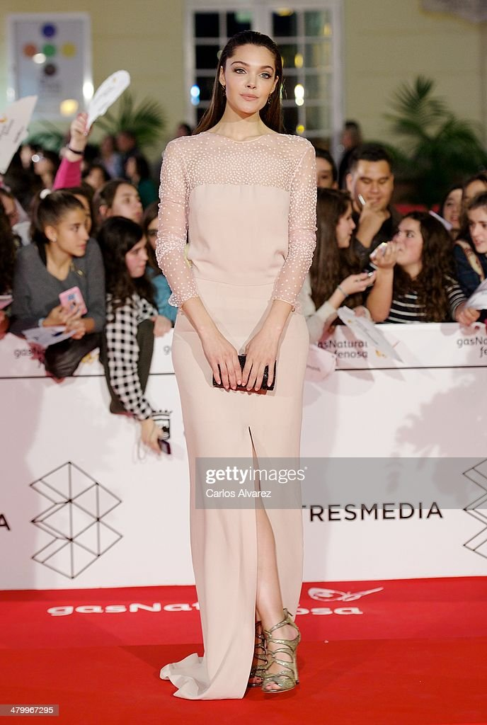 Spanish actress Ana Rujas attends the 17th Malaga Film Festival 2014 opening ceremony at the Cervantes Theater on March 21, 2014 in Malaga, Spain.