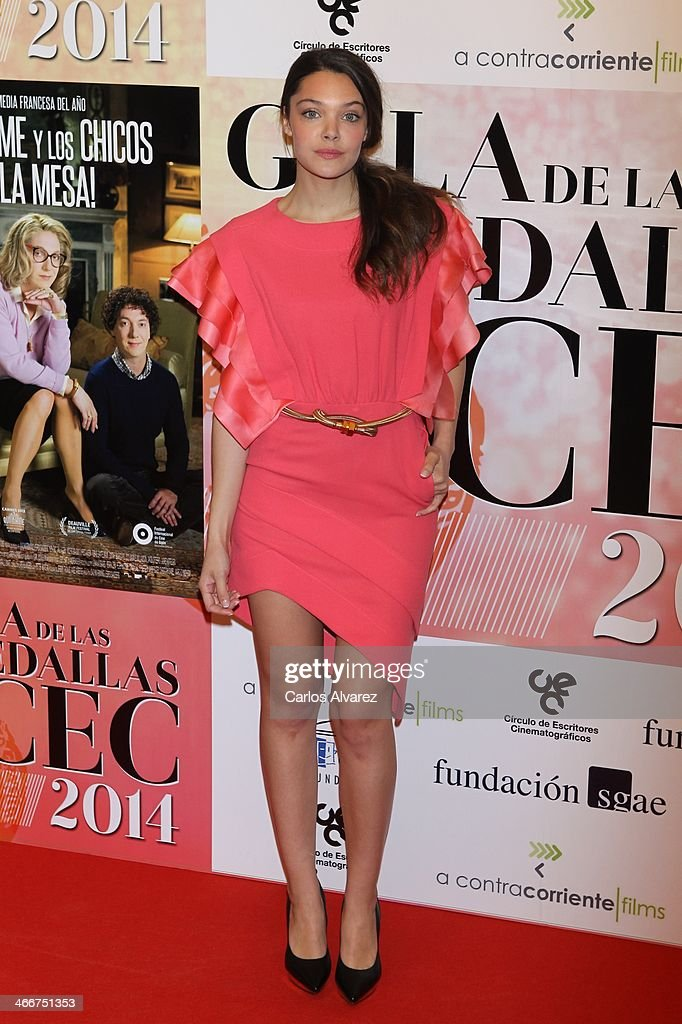 Spanish actress Ana Rujas attends the 'CEC' medals 2014 at the Palafox cinema on February 3, 2014 in Madrid, Spain.