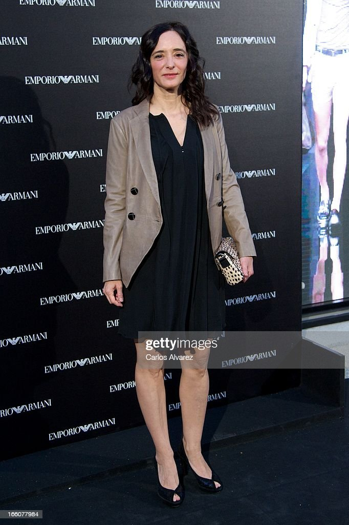 Spanish actress Ana Torrent attends the Emporio Armani Boutique opening on April 8, 2013 in Madrid, Spain.