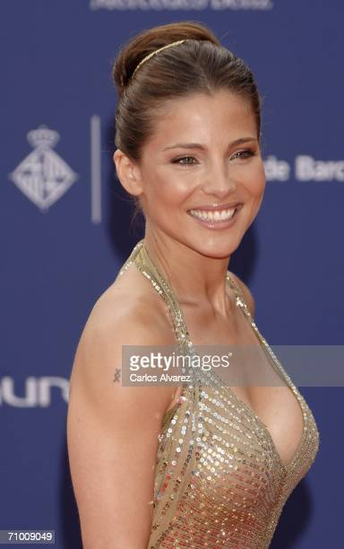 Spanish actress and model Elsa Pataki attends the Laureus World Sports Awards at Parc Del Forum on May 22 2006 in Barcelona Spain The annual ceremony...