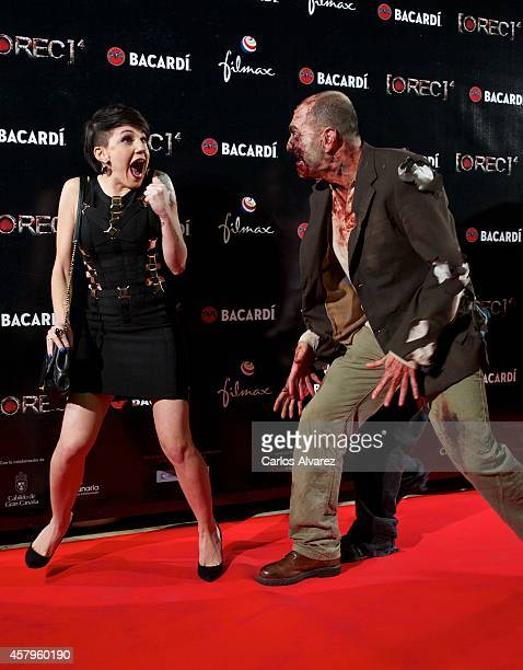Spanish actress and singer Angy Fernandez attends the 'REC 4' premiere at the Capitol cinema on October 27 2014 in Madrid Spain
