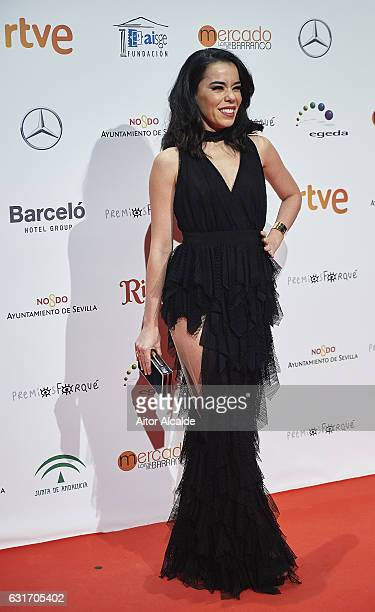 Spanish actress and singer Beatriz Luengo attends the Jose Maria Forque Awards 2016 at Teatro de la Maestranza on January 14 2017 in Seville Spain