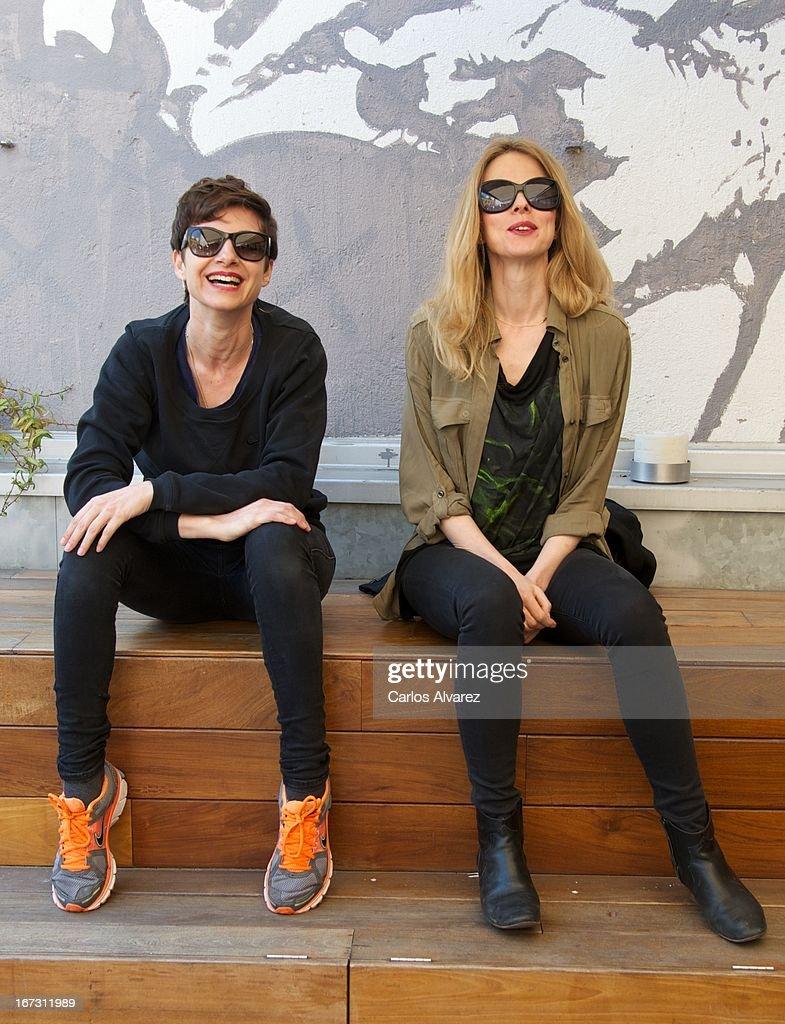Spanish actress and singer Nawja Nimri (L) and Spanish singer Christina Rosenvinge (R) present 'Aperol Spritz Sound Agenda' at San Anton market on April 24, 2013 in Madrid, Spain.