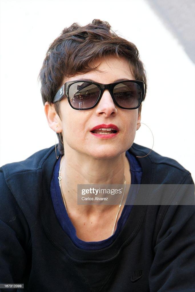 Spanish actress and singer Nawja Nimri presents 'Aperol Spritz Sound Agenda' at San Anton market on April 24, 2013 in Madrid, Spain.