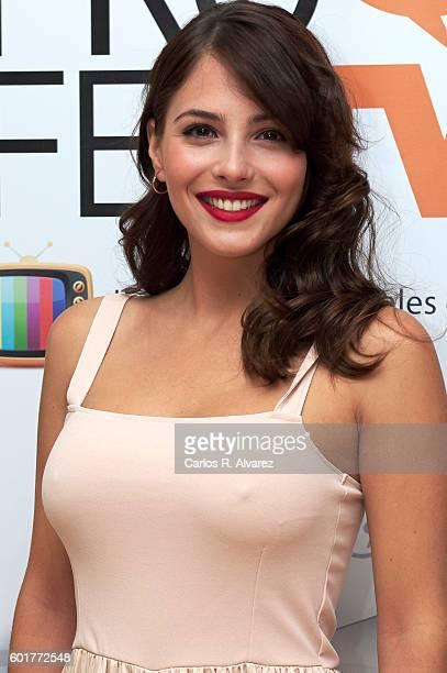 Spanish actress Andrea Duro attends 'Fisica o Quimica' photocall at Palacio de Congresos during FesTVal 2016 Closing Day on September 10 2016 in...