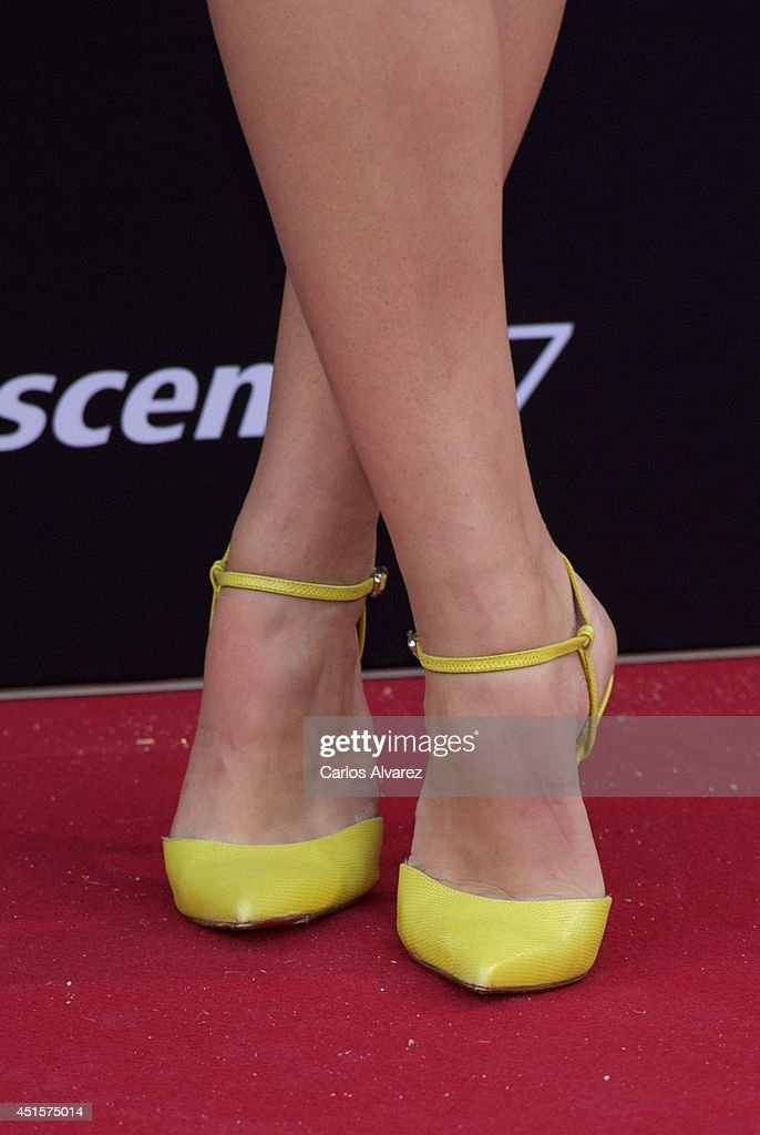 Spanish actress <a gi-track='captionPersonalityLinkClicked' href=/galleries/search?phrase=Andrea+Duro&family=editorial&specificpeople=5514325 ng-click='$event.stopPropagation()'>Andrea Duro</a> (shoes detail) attends Huawei Ascend P7 cocktail party at the Pastrana Palace on July 1, 2014 in Madrid, Spain.