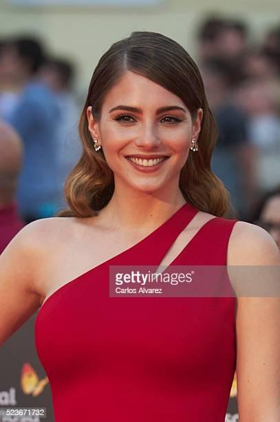 Spanish actress Andrea Duro attends 'La Punta del Iceberg' premiere at the Cervantes Theater during the 19th Malaga Film Festival 2016 Day 2 on April...