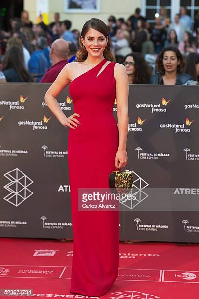 Spanish actress Andrea Duro attends 'La Punta del Iceberg' premiere at the Cervantes Theater during the 19th Malaga Film Festival 2016 Day 2 on April...