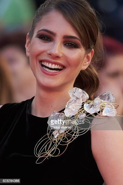 Spanish actress Andrea Duro attends the 19th Malaga Spanish Film Festival open ceremony at the Cervantes Theater on April 22 2016 in Malaga Spain