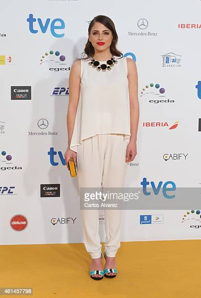 Spanish actress Andrea Duro attends the 20th Jose Maria Forque cinema awards at the Palacio Municipal de Congresos on January 12 2015 in Madrid Spain