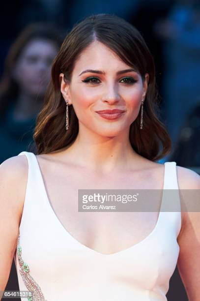 Spanish actress Andrea Duro attends the 20th Malaga Film Festival 2017 opening ceremony at the Cervantes Theater on March 17 2017 in Malaga Spain