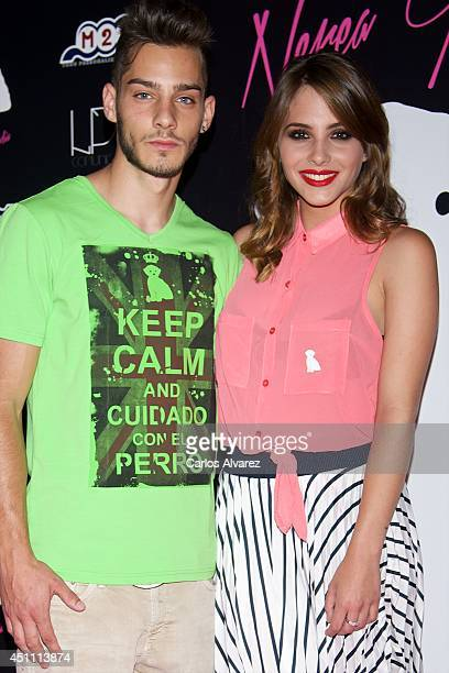 Spanish actress Andrea Duro attends the 'By Nerea' new fashion collection at the Larios Cafe on June 23 2014 in Madrid Spain