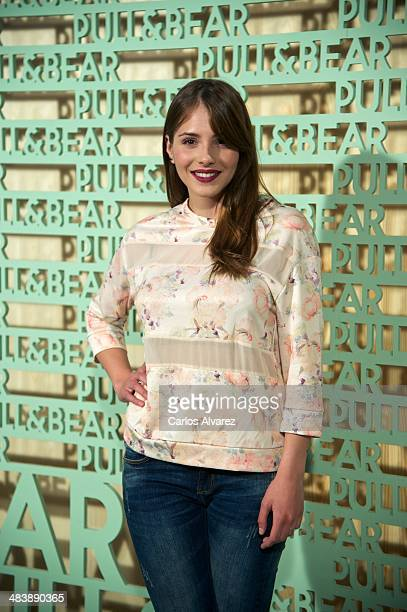 Spanish actress Andrea Duro attends the 'Pull Bear' party at the Cibeles Palace on April 10 2014 in Madrid Spain