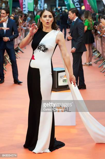 Spanish actress Andrea Duro attends 'Velvet Colecction' premiere at the Principal Teather during the FesTVal 2017 on September 5 2017 in...