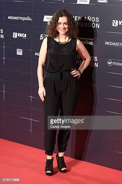 Spanish actress Angela del Salto attends the 'Cien Anos de Perdon' premiere at the Capitol cinema on March 1 2016 in Madrid Spain